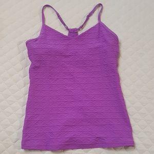 Lorna Jane purple textured sports top